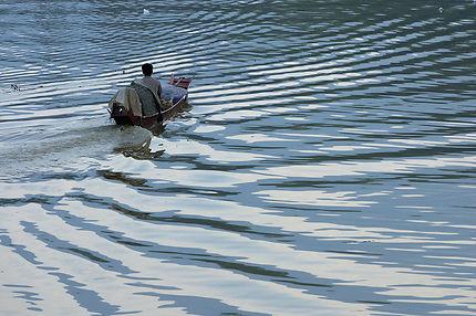 Barque sur la rivière Nam Khan à Luang Prabang
