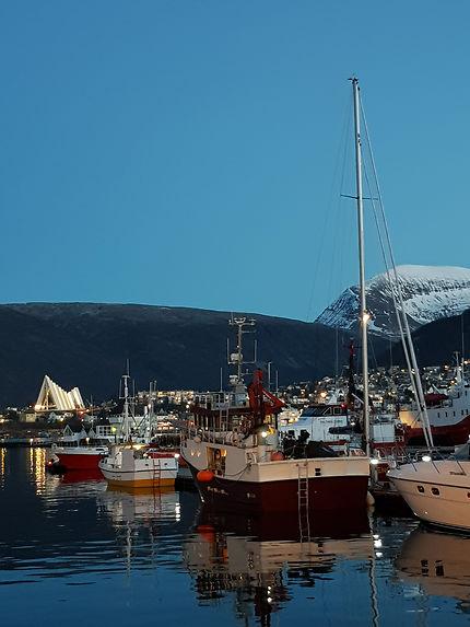 Tombée de la nuit à Tromsø