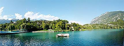 La cité du soleil Sierre et son lac géronde