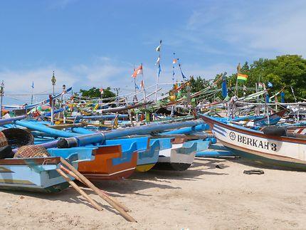 Bateaux de pêcheurs à Bali