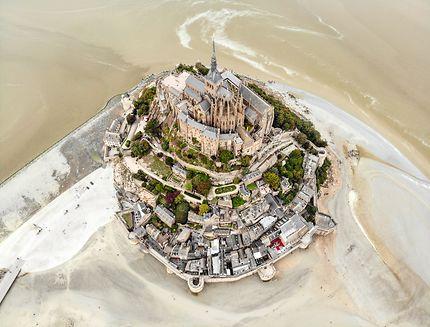 Vu du ciel au Mont Saint Michel