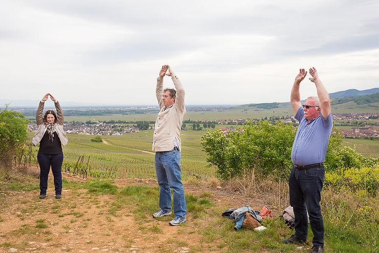 Qi-Gong dans les vignes à Kientzheim
