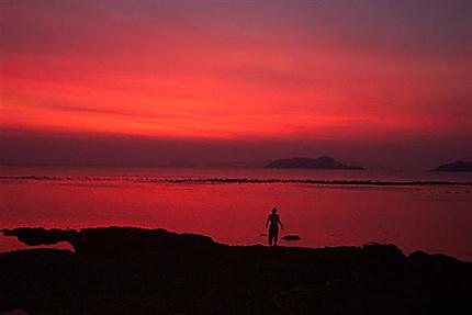 Coucher de soleil à l'île de Koh Mak