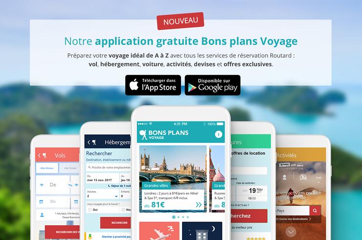 Nouveauté - Le Routard lance l'application mobile Bons Plans Voyage