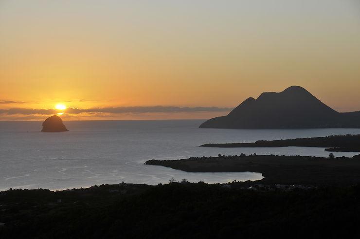 Coucher de soleil sur le Diamant, Martinique