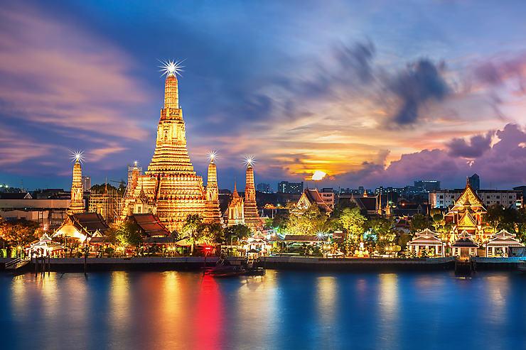 Bangkok : Wat Arun, le temple de l'aube