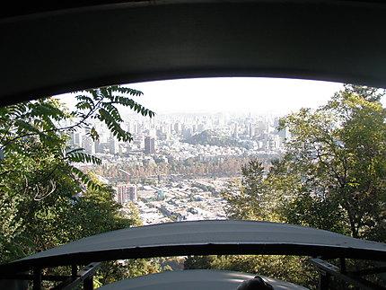 Funiculaire vue sur Santiago