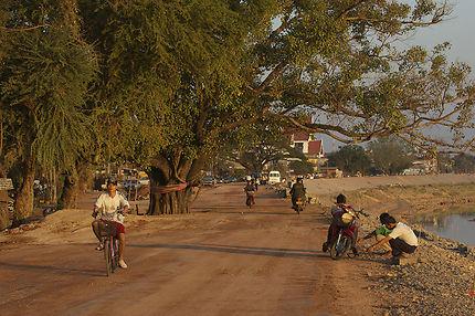 Berges du Mékong à Vientiane