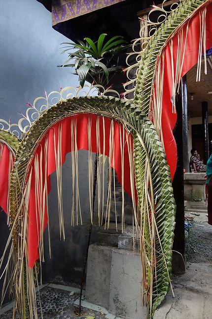 Décoration de mariage à Sidemen, Bali