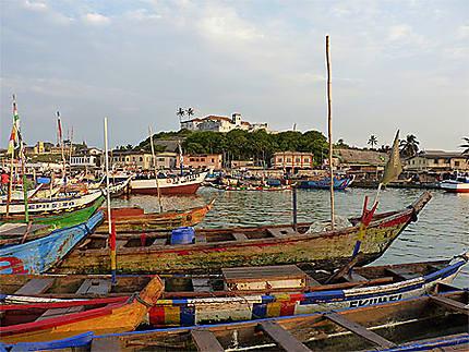 Le port et le fort hollandais