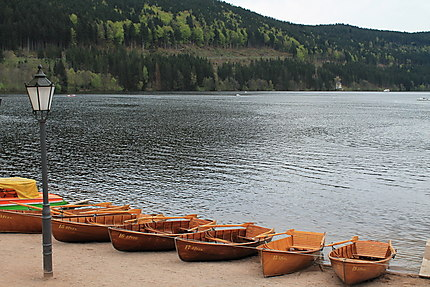 Les barques du lac de Titisee