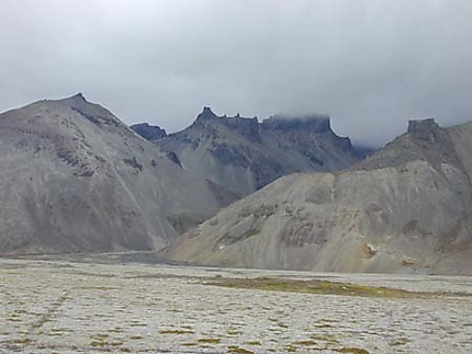 Montagnes entre Jökullarlon et Skaftafell