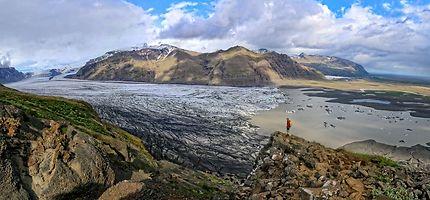 Visite du parc Skaftafell avec vue sur le glacier