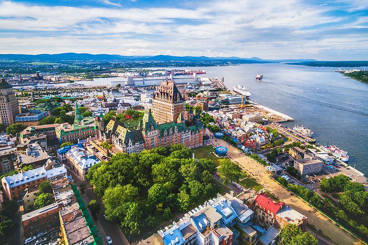 Le Québec, en descendant le Saint-Laurent