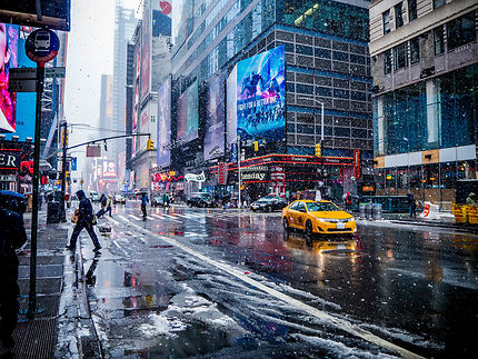Snowy Times Square