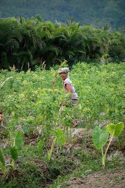 Sourire dans les rizières de Sidemen, Bali
