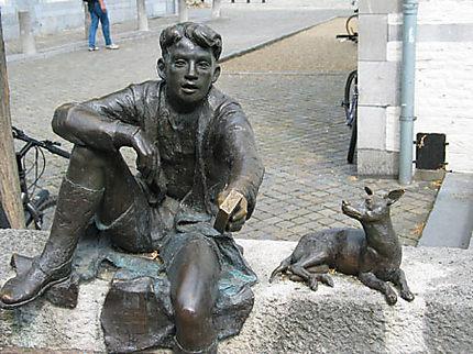 Pieke et son chien Maoke, rue Stokstraat