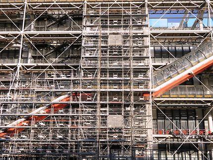 Travaux au centre Pompidou