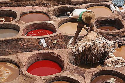 Médina : dans le quartier des tanneurs