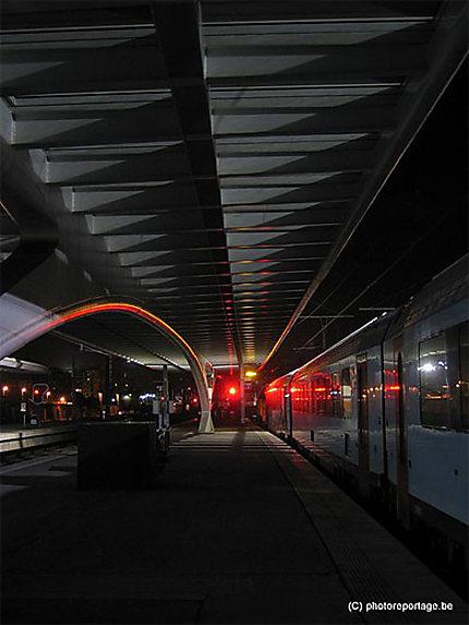 Liège gare des Guillemins - nocturne