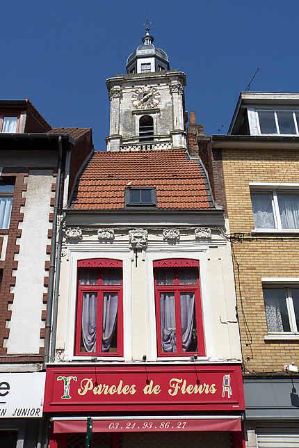 Façade, rue du Bourg, Aire-sur-la-Lys