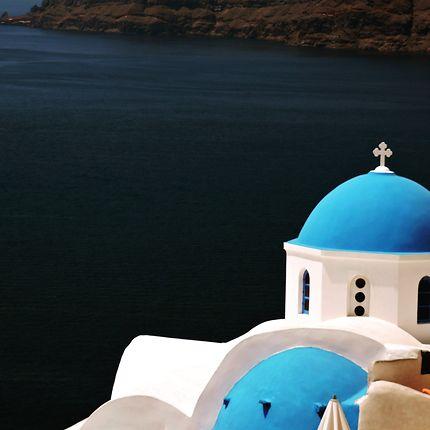 Bleu et blanc à Santorin