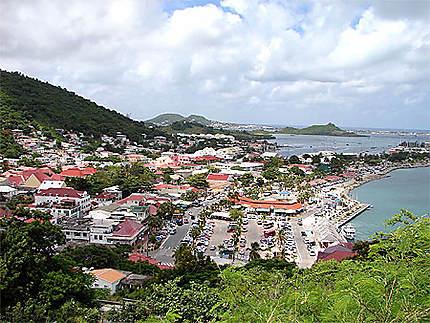 Le Port de Marigot vu du Fort