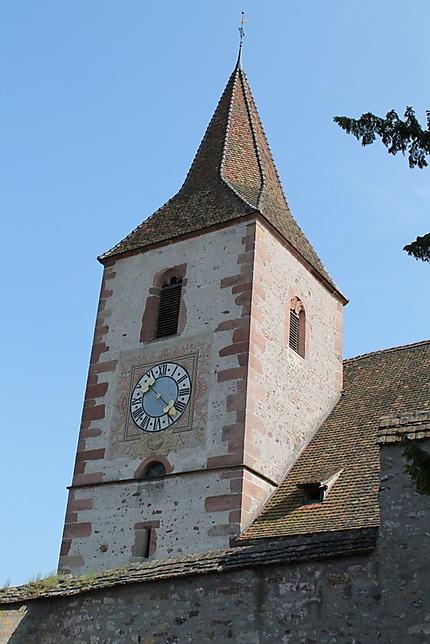 Clocher de l'église fortifiée