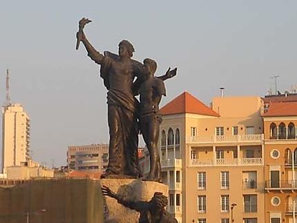 Centre-ville actuel de Beyrouth...