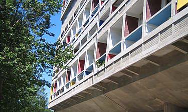 Cité radieuse de Le Corbusier