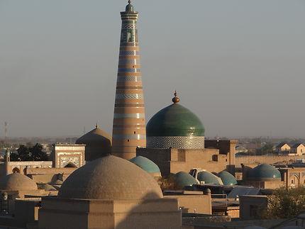 En attendant le coucher de soleil à Khiva