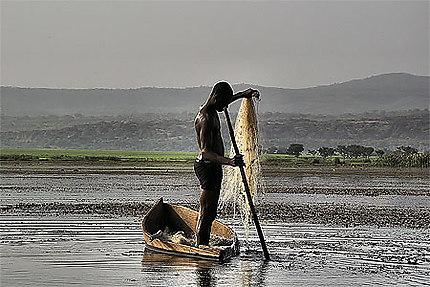 Photo de Banfora. Le pêcheur de lémorodogou