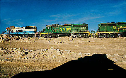 Le train minéralier...