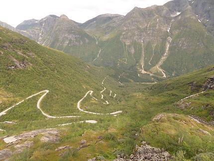 Route panoramique à Gaularfeljet, Norvège