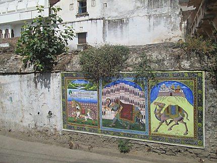 Fresque à Udaipur