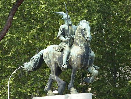 Un chevalier à Rome, cimetière protestant