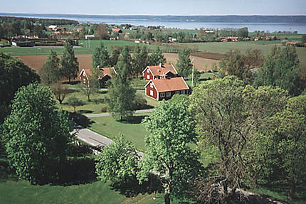 Paysage typique de la campagne suédoise