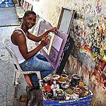 Le peintre à Puerto Plata