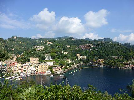 Vue depuis le promontoire à Portofino