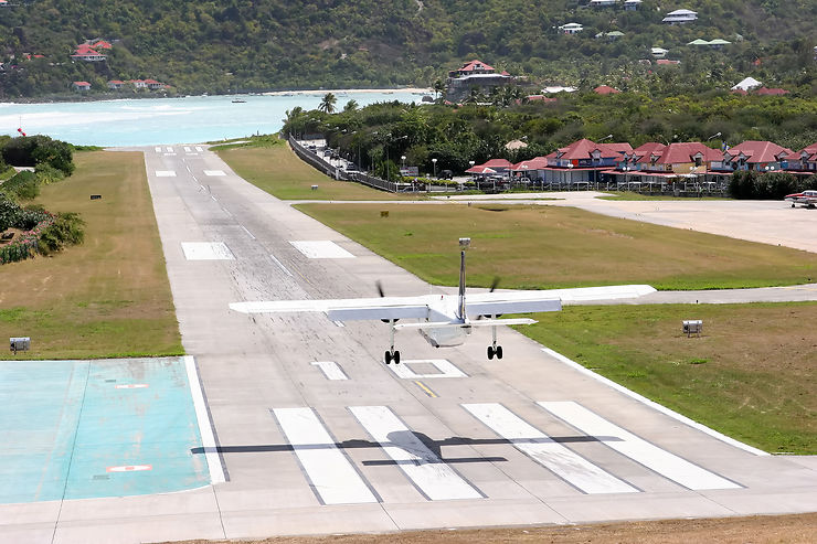 Atterrissage sportif à Saint-Barth'