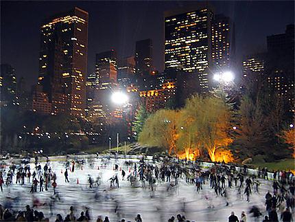 La patinoire de Central Park, la nuit