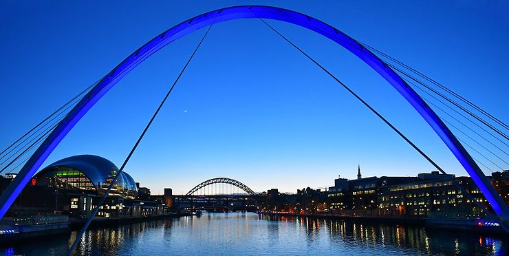 Arches sur la Tyne, Newcastle-upon-Tyne, Angleterre