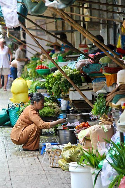 Marché à Saigon