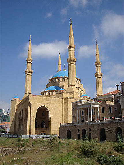 Vue de la mosquée Mohammad Al Amin