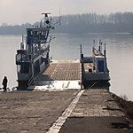 Bac entre Vác et Tahi, sur l'île de Szentendre