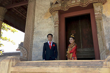 Mariage au Wat Sisaket de Vientiane