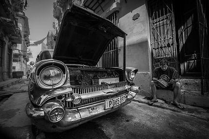 Problème sur la route à La Havane
