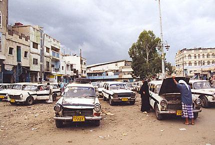 La station de taxis