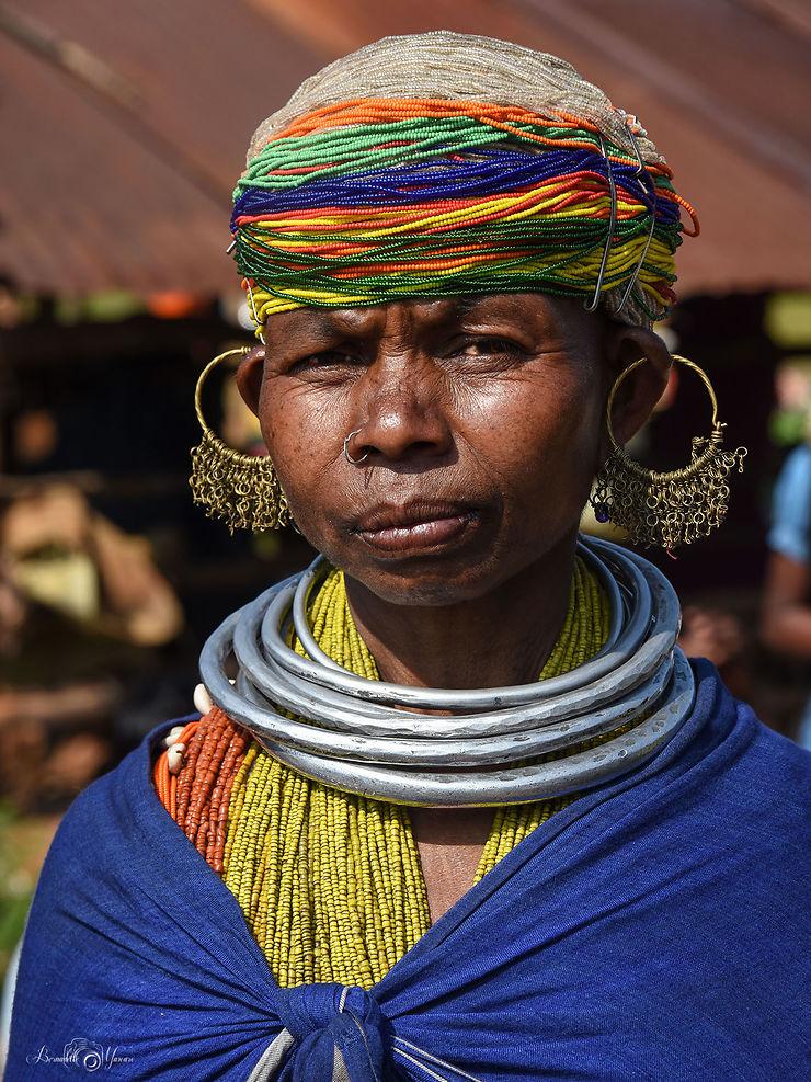 Femme de la tribu Bonda, Inde