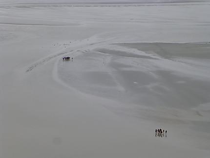 Marcheurs dans la baie